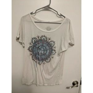 Obey White Peace Sign Graphic Tee Size Small